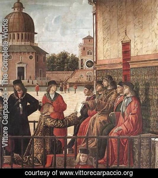 Vittore Carpaccio - Arrival of the English Ambassadors [detail: 2]