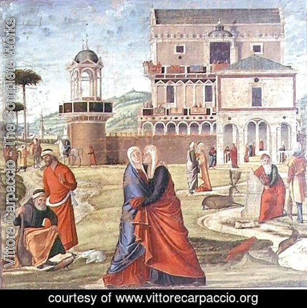 Vittore Carpaccio - The Visitation (oil on panel)