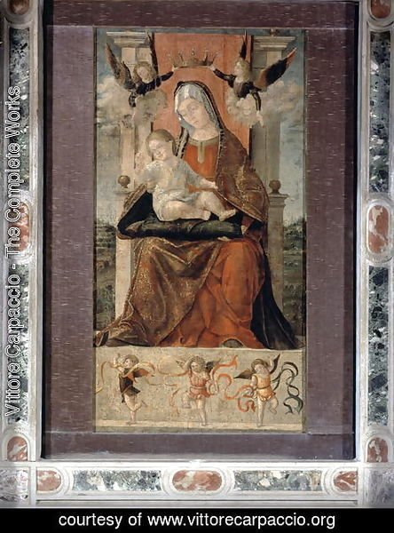 Virgin and Child Enthroned with Five Angels