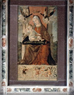 Vittore Carpaccio - Virgin and Child Enthroned with Five Angels