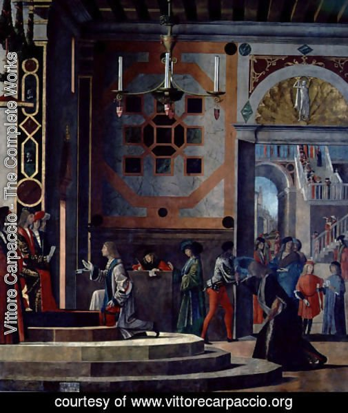 Vittore Carpaccio - The Departure of the English Ambassadors, from the St. Ursula cycle, 1498