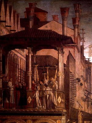 Vittore Carpaccio - The Miracle of the Relic of the True Cross on the Rialto Bridge (detail)