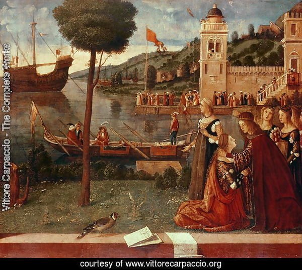 St.Ursula taking leave of her father, c.1500