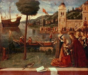 Vittore Carpaccio - St.Ursula taking leave of her father, c.1500