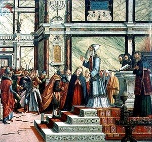 Vittore Carpaccio - Wedding of the Virgin, oil on canvas, 1504-8