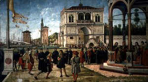 Vittore Carpaccio - The Story of St. Ursula, the Repatriation of the English Ambassadors, 1490-96