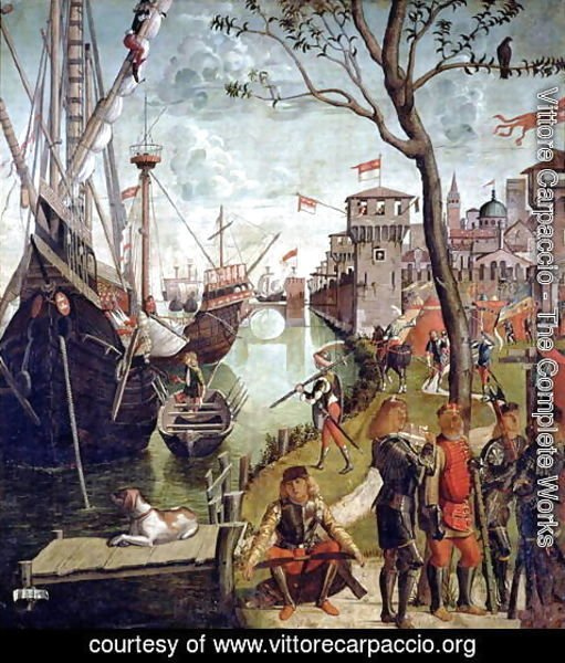 Vittore Carpaccio - Arrival of St.Ursula during the Siege of Cologne, from the St. Ursula Cycle, 1498