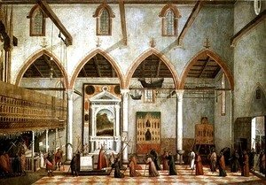 Apparition of the Crucified of Mount Ararat in the Church of Sant' Antonio di Castello, c.1512