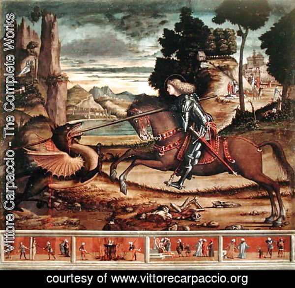Vittore Carpaccio - St. George Killing the Dragon, 1516