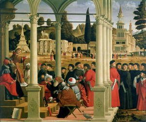 Vittore Carpaccio - Debate of St. Stephen, tempera on canvas, 1514