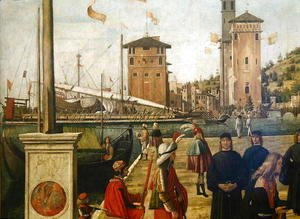 Vittore Carpaccio - The Return of the Ambassadors, from the St. Ursula Cycle, 1490-94 (detail)