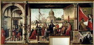 Vittore Carpaccio - The Arrival of the English Ambassadors, from the St. Ursula Cycle, 1498