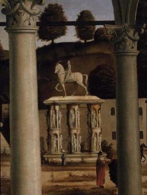 Vittore Carpaccio - Equestrian Monument, from the Debate of St. Stephen (detail)