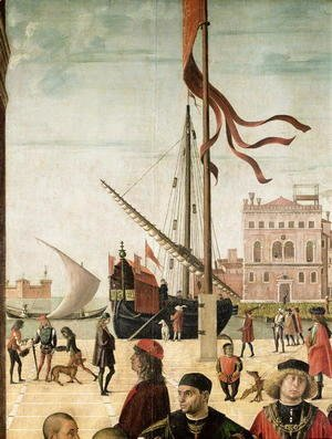 Vittore Carpaccio - The Arrival of the English Ambassadors at the Court of Brittany, from the Legend of Saint Ursula (detail