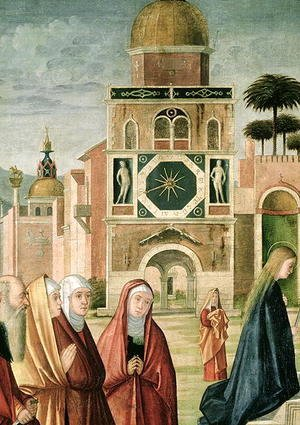 Vittore Carpaccio - Presentation of Mary at the Temple (detail of Mary)