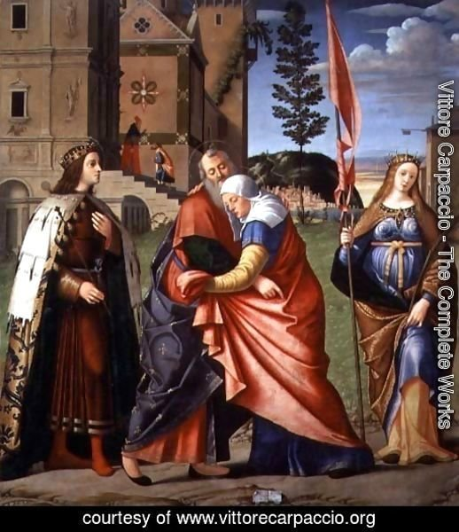 The Meeting at the Golden Gate with Saints, 1515