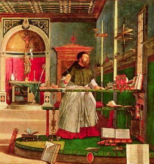 Vision of St. Augustine, 1502-08 (detail)
