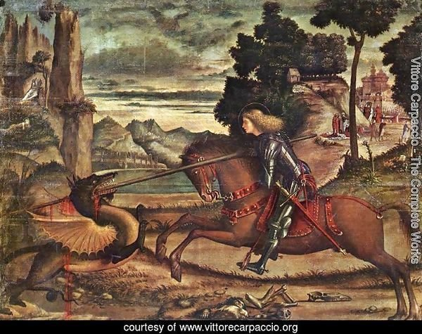St George and the Dragon [detail: 1]