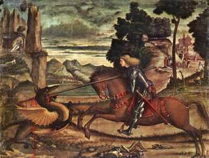 Vittore Carpaccio - St George and the Dragon [detail: 1]