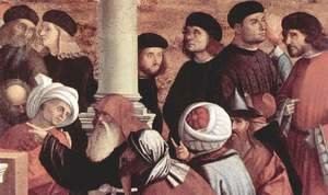 Vittore Carpaccio - Disputation of St Stephen (detail 1)