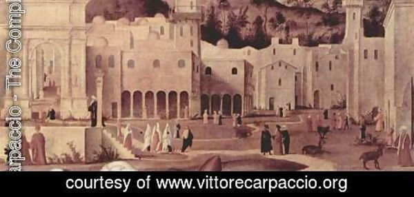 Vittore Carpaccio - St. Stephen's sermon at the gates of Jerusalem, detail