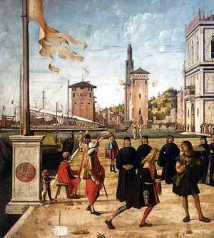 Vittore Carpaccio - The Ambassadors Return to the English Court (detail 2)
