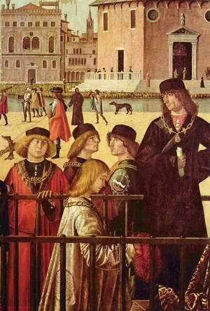 Vittore Carpaccio - The arrival of the British envoy at the court of King Brittany, detail