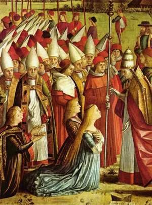 Vittore Carpaccio - The Pilgrims Meet the Pope (detail 1)