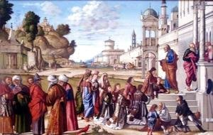 Vittore Carpaccio - The Ordination of St. Stephan as Deacon