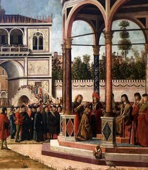 Vittore Carpaccio - The Ambassadors Return to the English Court (detail) 2