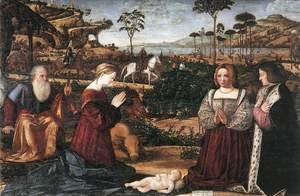Vittore Carpaccio - Holy Family with Two Donors 2