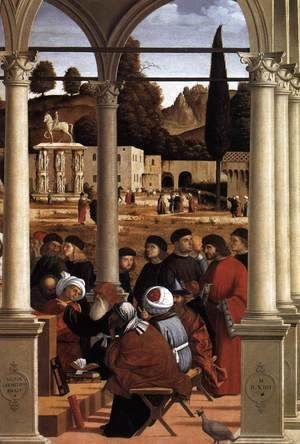 Vittore Carpaccio - Disputation of St Stephen (detail)