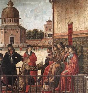 Vittore Carpaccio - Carpaccio Arrival of the English Ambassadors detail3