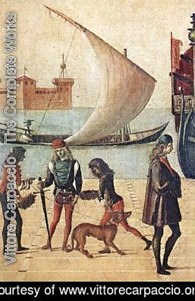 Vittore Carpaccio - Carpaccio Arrival of the English Ambassadors detail5