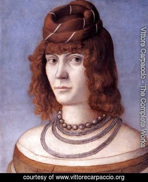 Vittore Carpaccio - Carpaccio Portrait of a Woman