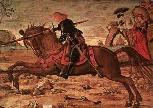 Vittore Carpaccio - Carpaccio St George and the Dragon detail1