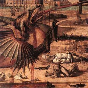 Vittore Carpaccio - Carpaccio St George and the Dragon detail2