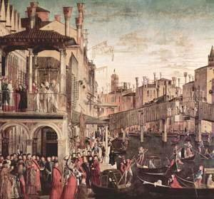 Vittore Carpaccio - The miracle of the holy cross Reliquie