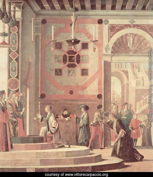 Series of paintings to the legend of St. Ursula, The farewell scene of the Messengers