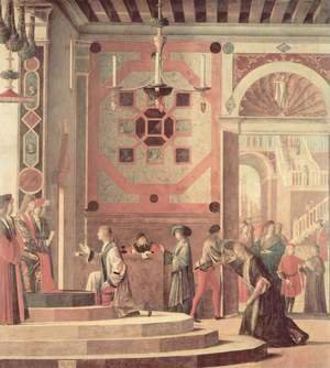 Vittore Carpaccio - Series of paintings to the legend of St. Ursula, The farewell scene of the Messengers