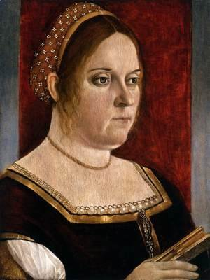 Vittore Carpaccio - Portrait of a Woman Holding a Book