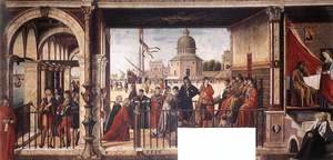 Vittore Carpaccio - Arrival of the English Ambassadors 1495-1500