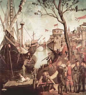 Vittore Carpaccio - The Arrival of the Pilgrims in Cologne 1490