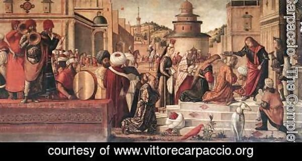 Vittore Carpaccio - The Baptism of the Selenites 1507