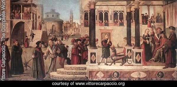 The Daughter of of Emperor Gordian is Exorcised by St Triphun 1507
