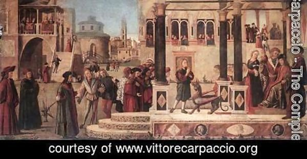 Vittore Carpaccio - The Daughter of of Emperor Gordian is Exorcised by St Triphun 1507