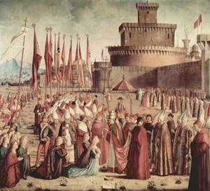 Vittore Carpaccio - The Pilgrims Meet the Pope c. 1492