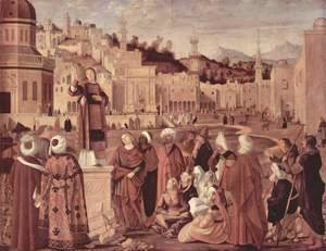 Vittore Carpaccio - The Sermon of St Stephen 1514