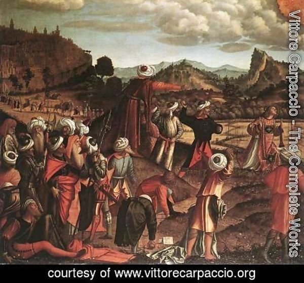 Vittore Carpaccio - The Stoning of St Stephen 1520