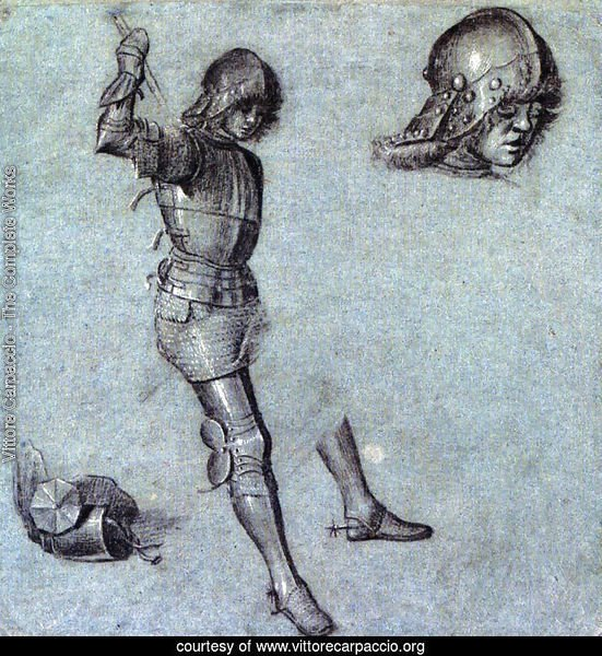 Three Studies Of A Cavalier In Armor